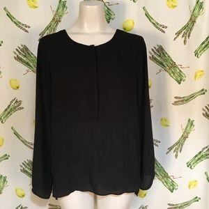 Ro & De Sheer Black Top Size L